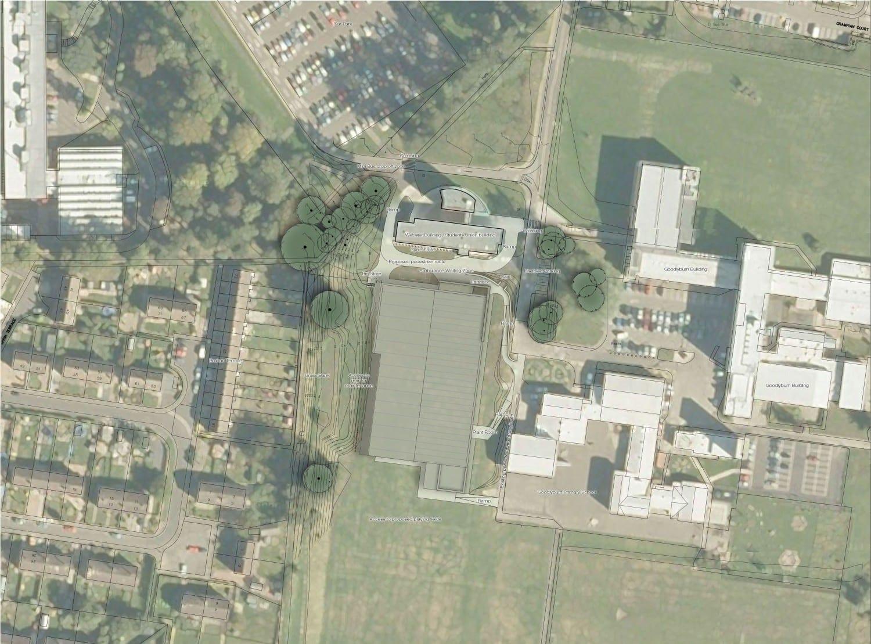 Perth Ball Hall Aerial view